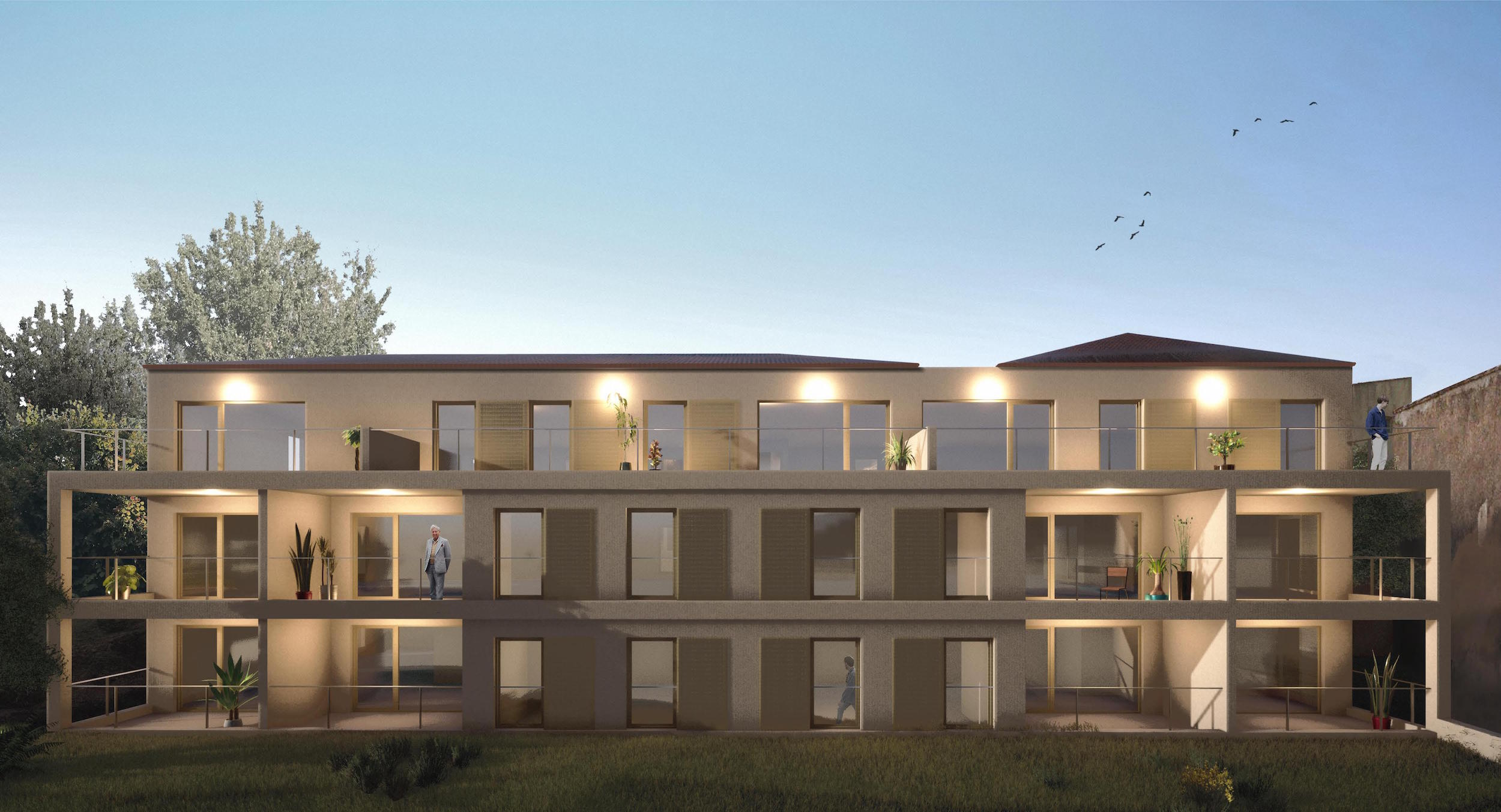 Immeuble habitation POURRIERES